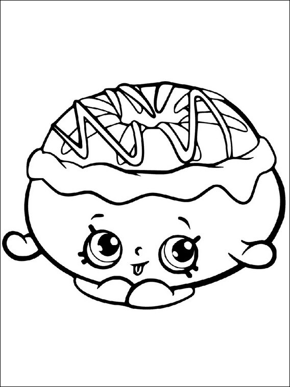 Shopkins Word Coloring Pages