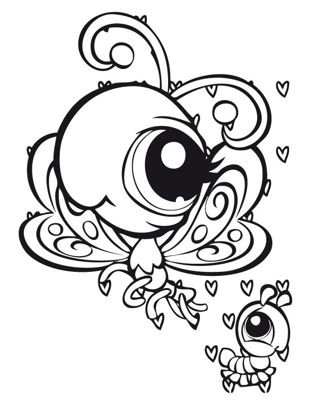 Teckningar littlest pet shop 33 - Coloriage lps ...